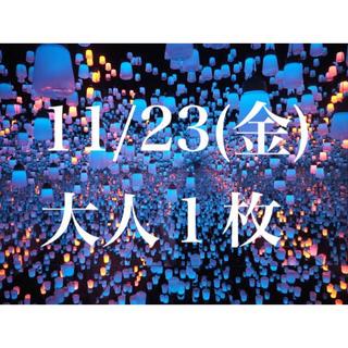 チームラボ お台場 11/23(金)(遊園地/テーマパーク)