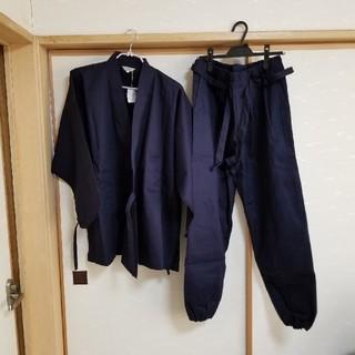 作務衣 メンズ Lsize オリホウ 黒色(その他)