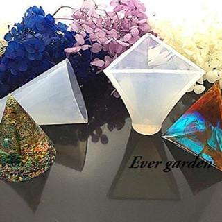 2個組三角錐 円錐 レジン オルゴナイト シリコンモールド(型紙/パターン)