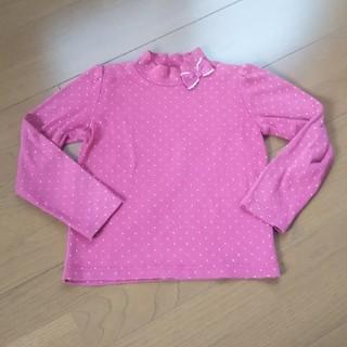 エニィファム(anyFAM)のanyFAM リボン付きハイネックトップス 120(Tシャツ/カットソー)