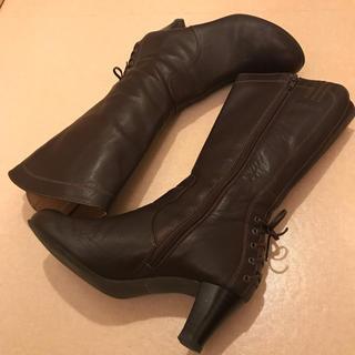 エレガンスヒミコ(elegance卑弥呼)の卑弥呼★ミドル丈ブーツ ブラウン 23.5(ブーツ)