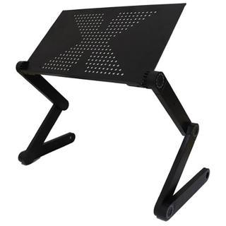 大好評★ パソコンスタンド ノートPC 折り畳み式 360度調節可能 便利自由(オフィス/パソコンデスク)