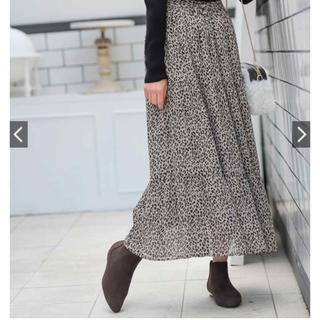 ディスコート(Discoat)のdiscoat レオパードスカート(ロングスカート)