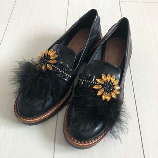 ザラ(ZARA)のZARA ローファー (ブラック)(ローファー/革靴)