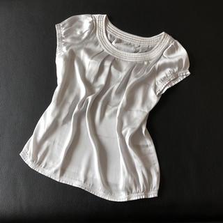 エムプルミエ(M-premier)のイネド❁︎サテン素材ブラウス(シャツ/ブラウス(半袖/袖なし))