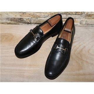 サントーニ(Santoni)のITALY製 アリゲーター革 サントーニ ビットローファー 黒 28,529cm(ドレス/ビジネス)