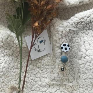 Kastane - dot Blue iPhone case handmade