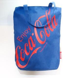 コカコーラ(コカ・コーラ)のコカコーラトートバッグ デニム風 赤ロゴ(トートバッグ)