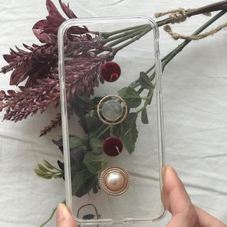 トゥデイフル(TODAYFUL)のred stone iPhone case handmade(スマホケース)