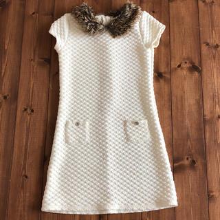 ノーティカ(NAUTICA)の襟のふわふわが可愛いワンピースサイズ12(12歳用約150cm)(ワンピース)