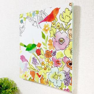 小鳥とお花のファブリックパネル【限定品】(ファブリック)