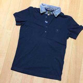 ディーゼル(DIESEL)のDIESEL デニム切り替え半袖ポロシャツ(ポロシャツ)
