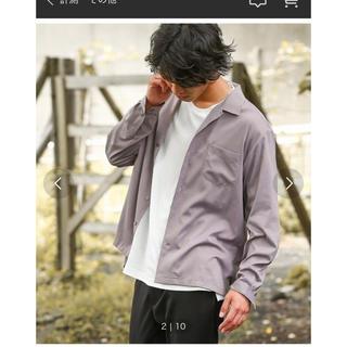 ジュンレッド(JUNRED)のドレープオープンカラーシャツ(シャツ)