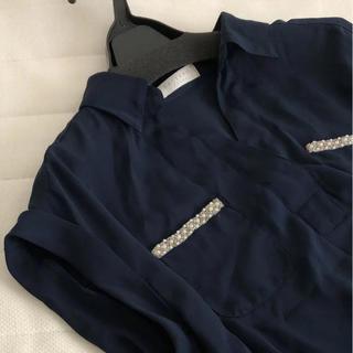パターンフィオナ(PATTERN fiona)のパターンフィオナ ビジューブラウス(シャツ/ブラウス(半袖/袖なし))