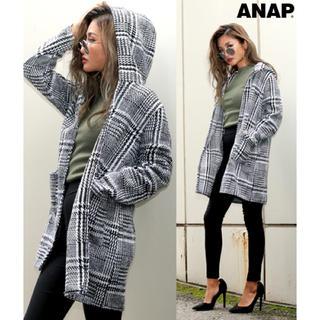アナップ(ANAP)の新品  グレンチェックフーディージャケット(その他)