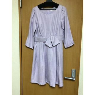 パターンフィオナ(PATTERN fiona)のパターンフィオナ 七分袖 ワンピース 紫(ひざ丈ワンピース)