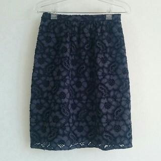 アナイ(ANAYI)のアナイ 紺レースタイトスカート(ひざ丈スカート)