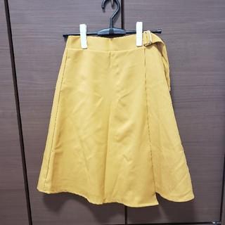 シマムラ(しまむら)のラップスカート イエロー(ひざ丈スカート)