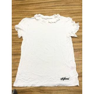 ジェニィ(JENNI)の美品☆JENNI カットソー Tシャツ ホワイト ストレッチ素材(Tシャツ/カットソー)