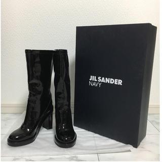 ジルサンダー(Jil Sander)の【新品】JIL SANDER NABY エナメルブーツ♬(ブーツ)