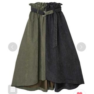 オズモーシス(OSMOSIS)のosmosis♡配色フレアースカート(ロングスカート)