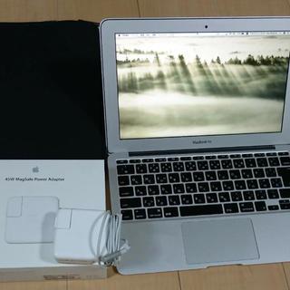 マック(Mac (Apple))のMacBook Air 11インチ Mid 2011 128GB 本体ケース付き(ノートPC)