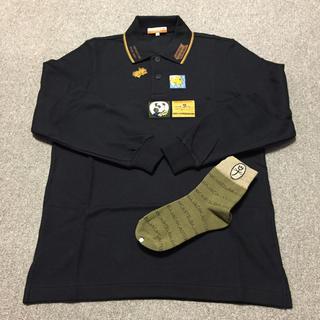 カステルバジャック(CASTELBAJAC)のポロシャツ 黒 M ソックス付き 2セット(ウエア)