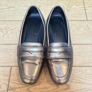 ザラ(ZARA)のZARA ザラ パンプス ブロンズ ローファー(ローファー/革靴)