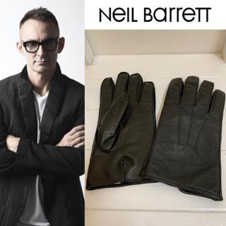 ニールバレット(NEIL BARRETT)のNeil Barrett ニールバレット ITALY製 美品 レザーグローブ M(手袋)
