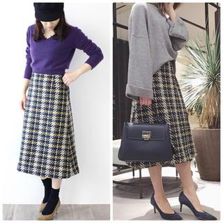 ドレスレイブ(DRESSLAVE)のドレスレイブ  ツイードチェックスカート DRESSLAVE 台形スカート(ひざ丈スカート)