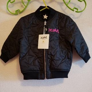 エックスガールステージス(X-girl Stages)のX-GIRL Stages 新品 リバーシブルジャケット MA-1 黒 90cm(ジャケット/上着)