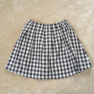 ジェットセット(JET SET)の38サイズ ギンガムチェック膝丈スカート(ひざ丈スカート)