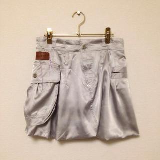バーニーズニューヨーク(BARNEYS NEW YORK)のサテン バルーンスカート(ミニスカート)