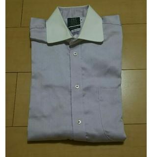 カミチャニスタ(CAMICIANISTA)のワイシャツ(ラウンドカラー・パープル)(シャツ)