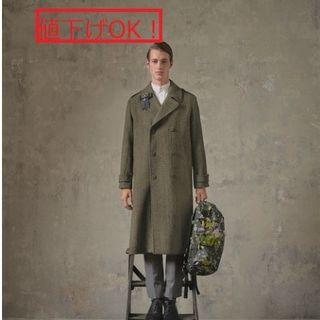 アーデム(Erdem)の値下げOK! ERDEM x H&M 1度着用美品ツイードロングコート(チェスターコート)