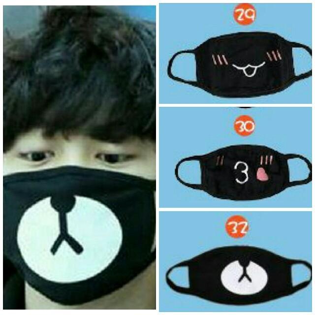 超 立体 マスク 隙間 、 マスク 黒マスク 顔文字 ブラックマスク 布マスク かわいい ファッションの通販