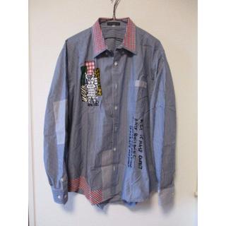 カステルバジャック(CASTELBAJAC)のカステルバジャック ボタンダウン シャツ 刺繍 ロゴ 50 美品(シャツ)