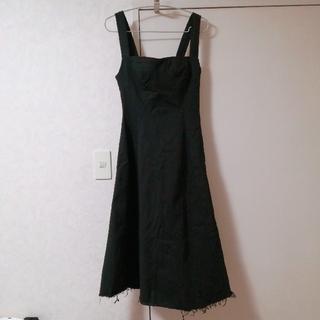 スタイルナンダ(STYLENANDA)の黒デニム ジャンパースカート(ロングワンピース/マキシワンピース)