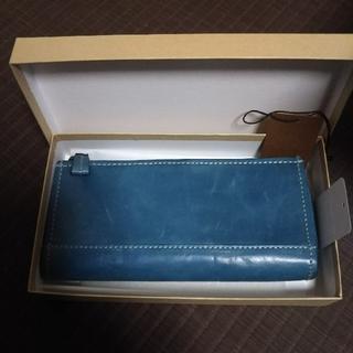 アクシーズファム(axes femme)の新品未使用 AXE 財布 レザー ブルー 箱つき(財布)