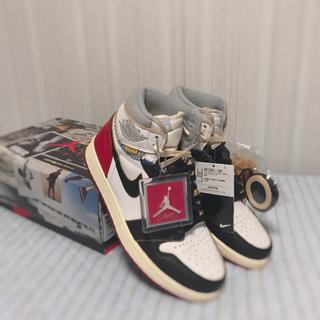 ナイキ(NIKE)のUnion×Air Jordan 1 白赤黒 24.5cm 新品 送料込(スニーカー)
