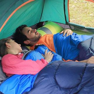 寝袋 コンパクト 封筒型 収納袋付き 登山(寝袋/寝具)