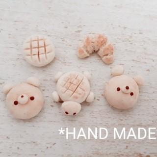 5点セット ♪ミニチュアパンのマスコット♪ ハンドメイド 粘土(ミニチュア)