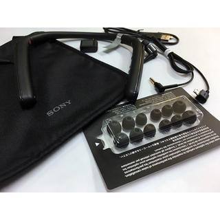 ソニー(SONY)の超美品 SONY WI-1000X Black ソニー  附属品&ポーチ(ヘッドフォン/イヤフォン)