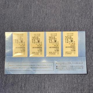 キンテツヒャッカテン(近鉄百貨店)の近鉄 乗車券 4枚 株主優待(鉄道乗車券)
