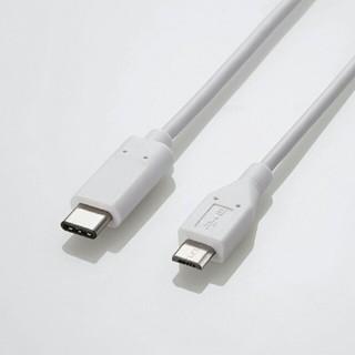 エレコム(ELECOM)のUSB2.0ケーブル(Type-C-microB) ケーブル長:2.0m(バッテリー/充電器)