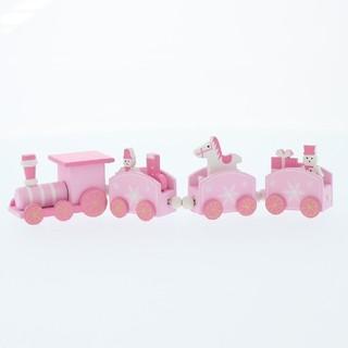スリーコインズ(3COINS)のMDFトレイン 新品 3COINS ピンククリスマス(置物)