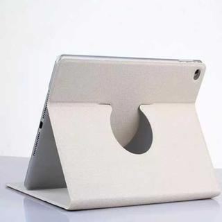 iPad Air2 ホワイト シンプル 360度回転 iPadケース(iPadケース)