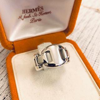 エルメス(Hermes)のマチュジノビリ様 エルメス シェーヌダンクル リング 指輪 14号 磨き済 美品(リング(指輪))