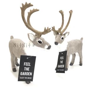 フランフラン(Francfranc)の新品 トナカイ オブジェ グレー クリスマス インテリア 飾り 置物 鹿 シカ(置物)