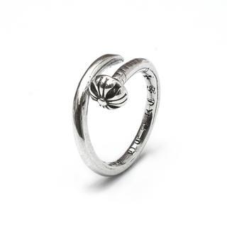 一本釘黒墨コーティングプラスリングサイズフリー (リング(指輪))